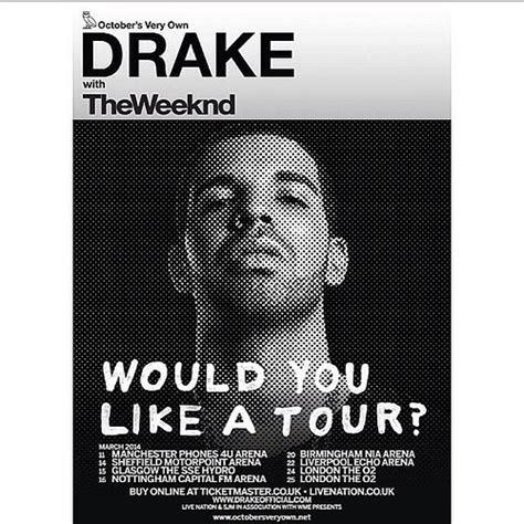 drake uk tour missinfo tv 187 drake announces would you like a tour