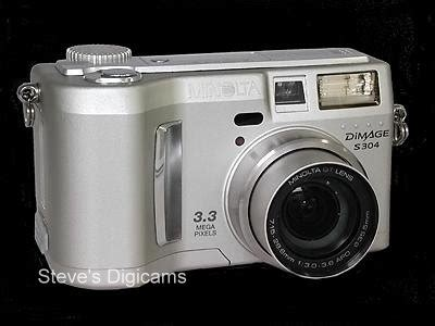 minolta dimage s304 first look posted steve's digicams