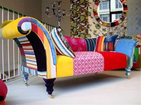 crazy couches chaise longue funky painted upholstered furniture