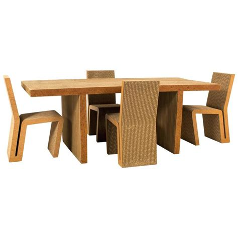 Vitra Dining Table Iconic Easy Edges Dining Room Table By Frank Gehry For Vitra 2000 For Sale At 1stdibs
