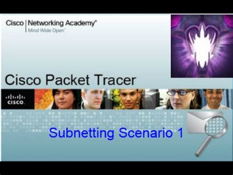 subnetting tutorial youtube packet tracer tutorials 8 1 4 7 subnetting scenario 1