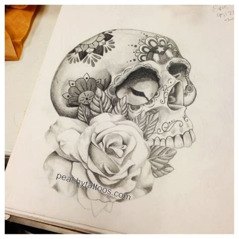 the 25 best ideas about flower skull tattoos on