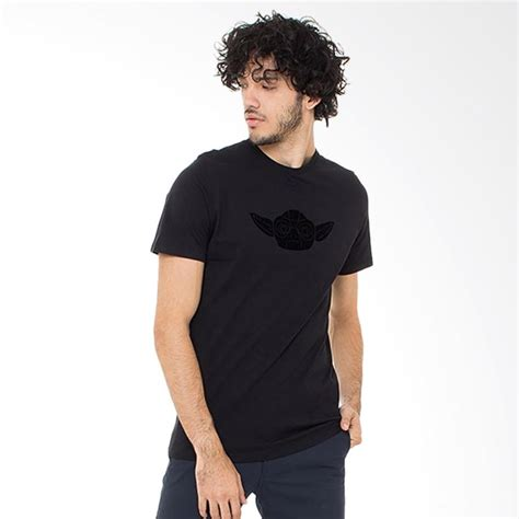 Kaos Baju Tshirt White Diagonal Print Black Hitam 1 jual t shirt nike gamis abadi