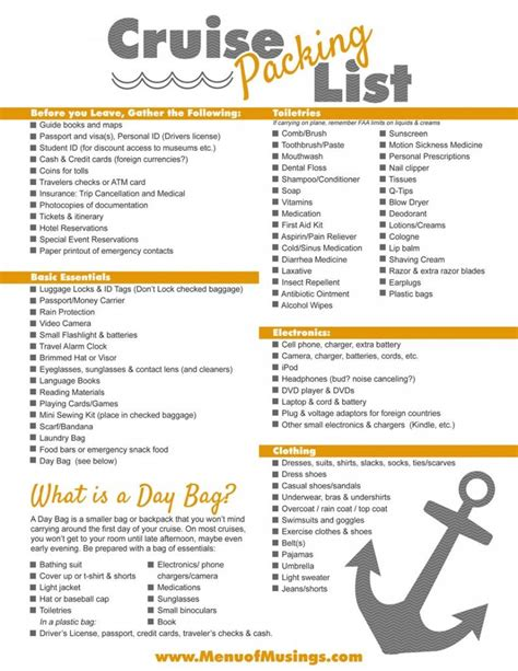 free printable caribbean cruise packing list cruise packing lists