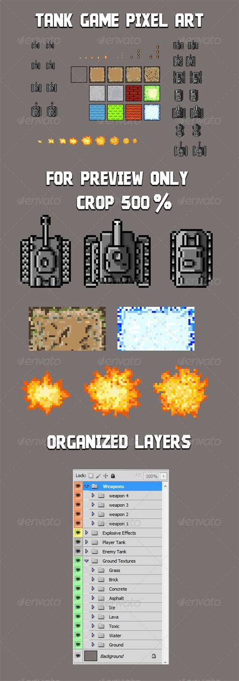 tank game sprite template  proxymo graphicriver