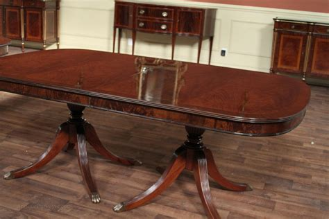 Traditional Dining Tables Mahogany Dining Room Table With Duncan Phyfe Style Pedestals Ebay
