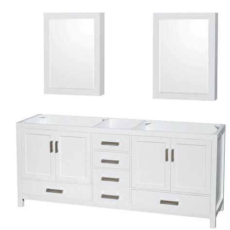 wyndham collection medicine cabinet wyndham collection sheffield 80 in vanity cabinet