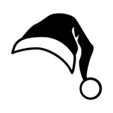black and white christmas hat santa hat icons noun project
