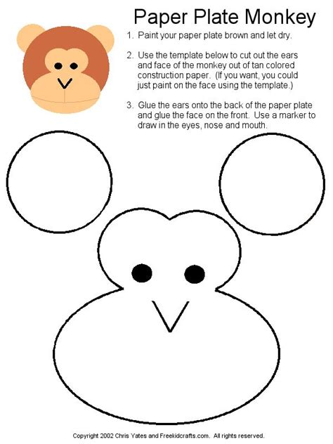 How To Make A Monkey Out Of Paper - 25 best ideas about monkey crafts on