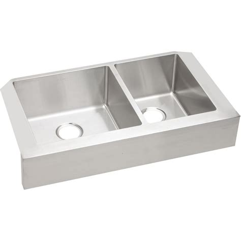 elkay crosstown farmhouse apron front stainless steel 32