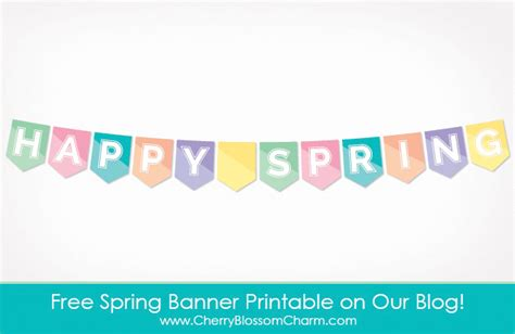 printable banner spring happy spring free printable banner charming printables