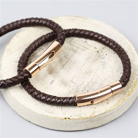 leather bands for jewelry personalised s brown leather bracelet by