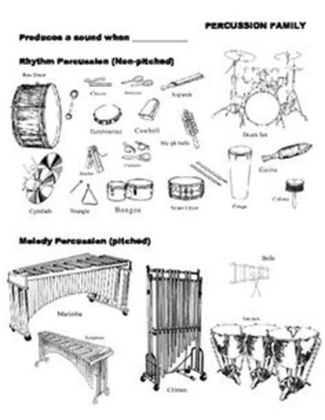 percussion family coloring page 1000 images about music instrument families on pinterest