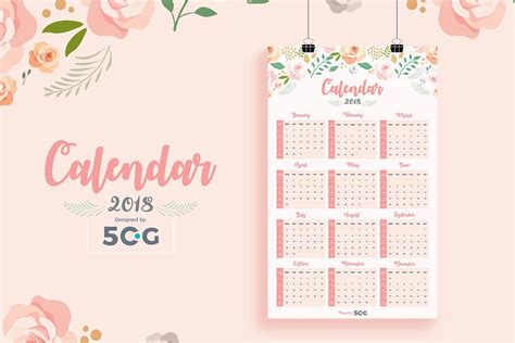 make photo calendar free 2018 free one page 2018 printable wall calendar design template