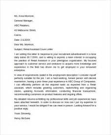 Exles Of Retail Cover Letters by Sle Cover Letter Exle Template 29 Free Documents In Pdf Word