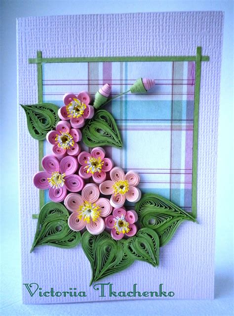 paper quilling greeting card tutorial quilling greeting card with tiny flowers quilling