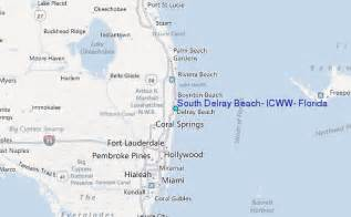 where is delray florida on the map south delray icww florida tide station location guide