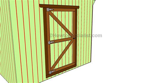 How To Build Shed Doors by Shed Door Plans Howtospecialist How To Build Step By