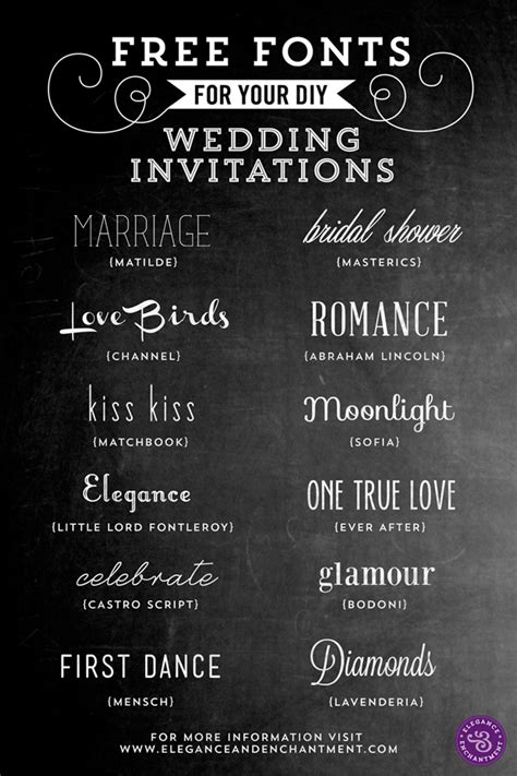 Wedding Font by Free Fonts For Diy Wedding Invitations
