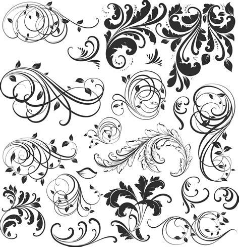 vintage floral design elements vector free download 20 vetores florais vintage arabescos