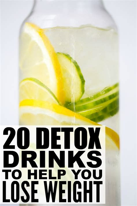 Detox Diet To Lose Weight by 20 Detox Drinks To Help You Lose Weight