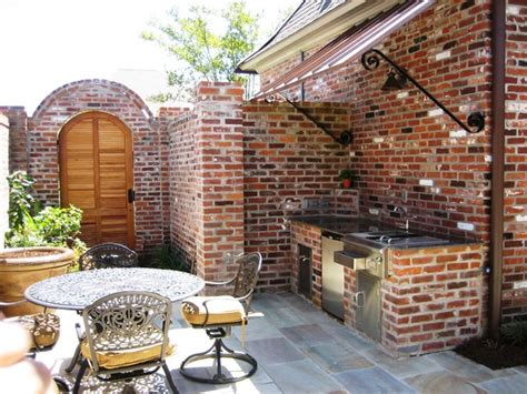 copper basin outdoor kitchen traditional patio outdoor living traditional patio new orleans by