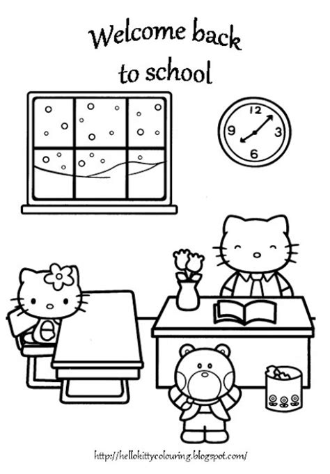 hello kitty at school coloring pages hello kitty coloring pages