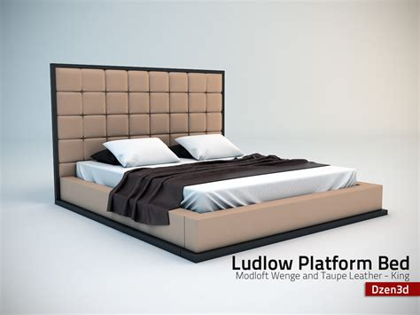 modloft ludlow bed 3d model modloft ludlow bed loft