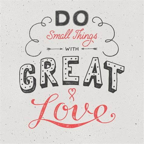 hand lettering tutorial love do small things with great love quote friends hand
