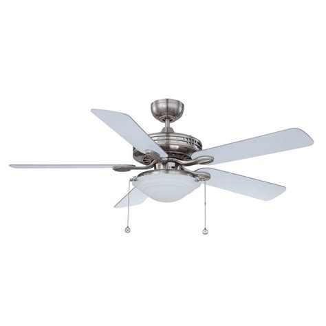 satin nickel ceiling fan designers choice collection 52 in satin nickel ceiling
