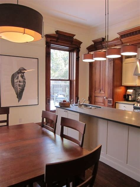 brooklyn brownstone kitchen dining room