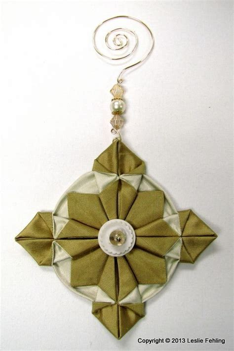 Origami Ornaments Patterns - best 25 fabric origami ideas on fabric