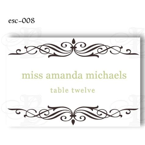 printable wedding place cards template 7 best images of free printable table place cards template
