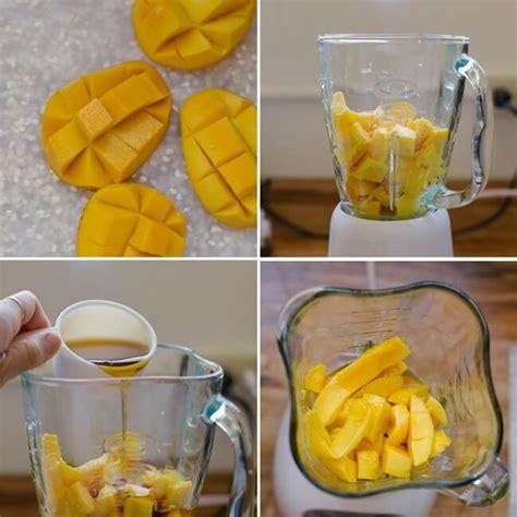 membuat ice cream blender 4 cara membuat resep sorbet mangga ice cream mangga