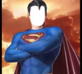 Superman face in hole effect create funny face effect on
