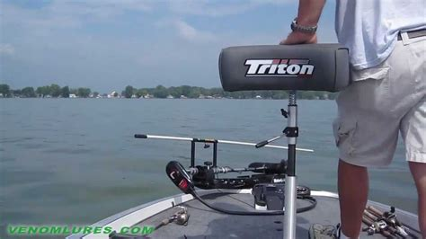 shallow water anchor for pontoon boat venom down right shallow water anchor pole for boats youtube