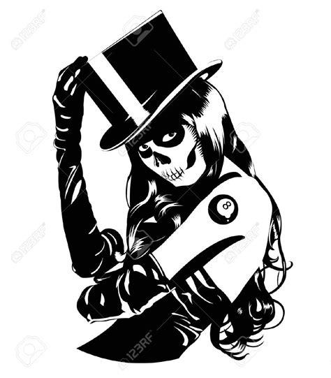 tattoo lady cartoon free girl skulls cliparts download free clip art free