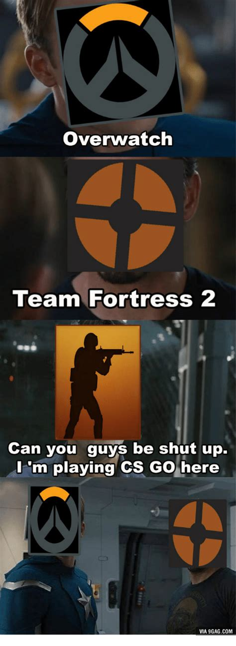 Team Fortress 2 Meme - overwatch team fortress 2 can you guys be shut up m