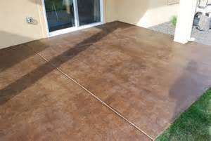 How To Clean Stained Concrete Patio by Diy Project How To Stain A Concrete Patio The Garden Glove