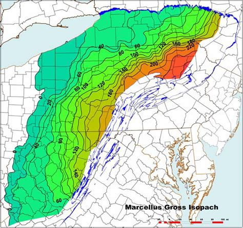 grand eastern 2009 asia digital figure 2 marcellus shale gross isopach