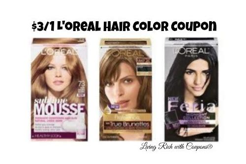 loreal hair color coupon $3