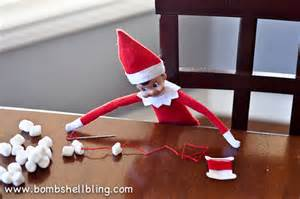 Use a needle and thread to help your elf begin to make himself a