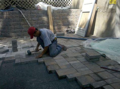 installing paver block patio paver patio installation d s brody associates inc d