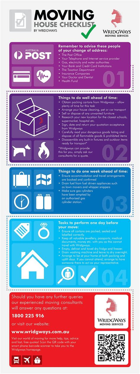 Home Tips Tips On Frienship wridgways moving checklist this handy infographic