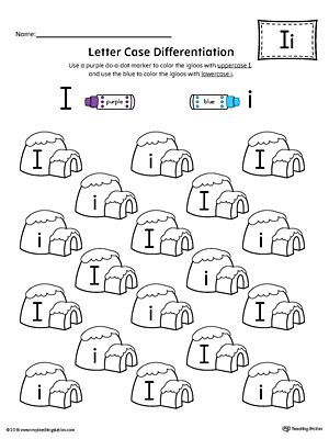letter recognition worksheets letter recognition worksheet letter i 1436