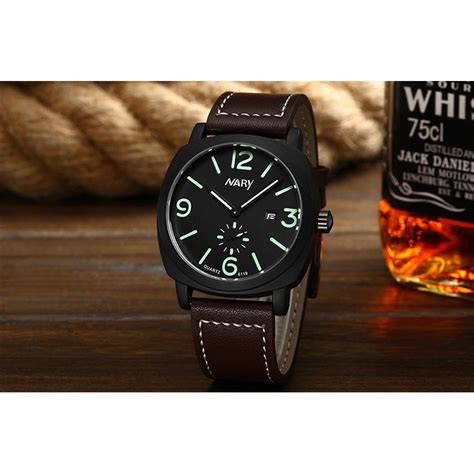 Jam Tangan The Leather Brown Black nary jam tangan analog kulit 6119 brown black jakartanotebook