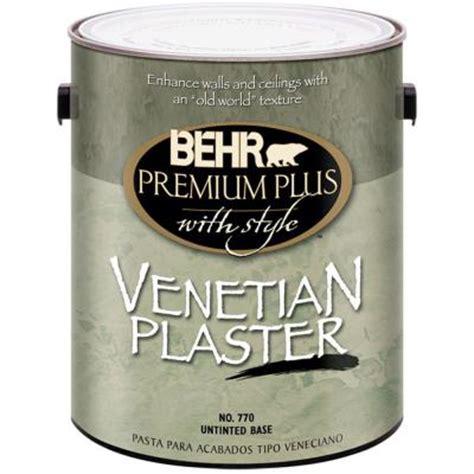 behr premium plus 1 gal flat venetian plaster 77001 the