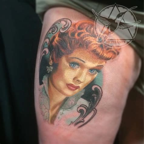 lucille ball tattoo lucille vintage color portrait by jake bertelsen