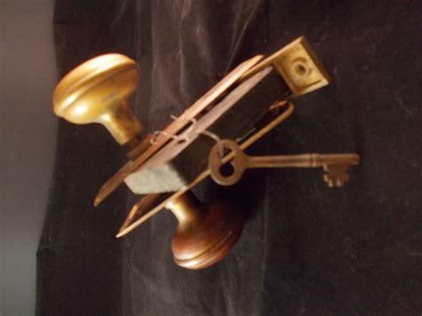 Antique Door Knob Sets by Antique Corbin Brass Door Knob Set With Key Estate Find Vintage Vguc Ebay