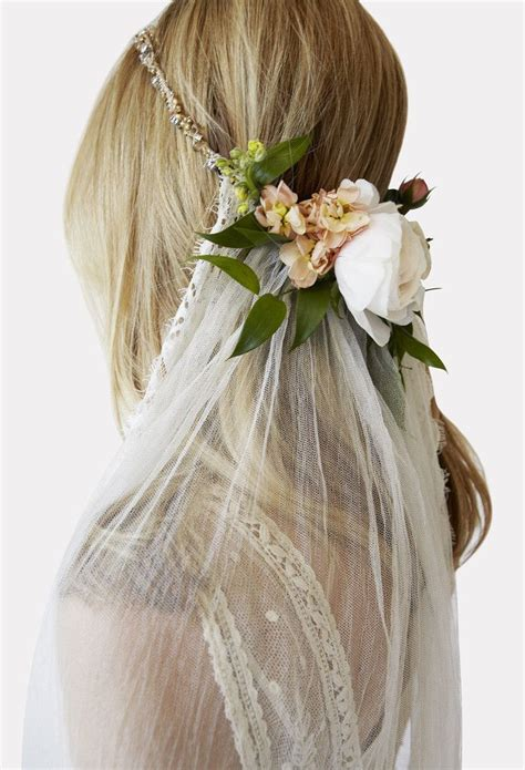 Floral Wedding Veil flower crown with veil the vow